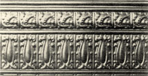 Reproduction  pressed metal border tile  V4C