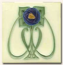 Reproduction Art Nouveau Tile V7B