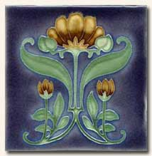 Reproduction Art Nouveau Tile V11A