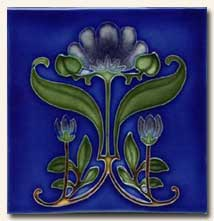 Reproduction Art Nouveau Tile V10
