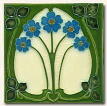 Reproduction Art Nouveau Tile V12A
