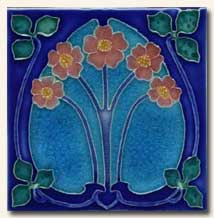 Reproduction Art Nouveau Tile V13A