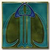Reproduction Art Nouveau Tile V1A