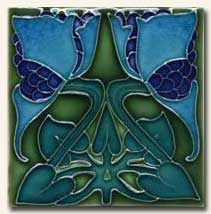Reproduction Art Nouveau Tile V4B