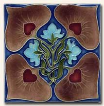 Reproduction Art Nouveau Tile V13B
