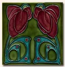 Reproduction Art Nouveau Tile V1B