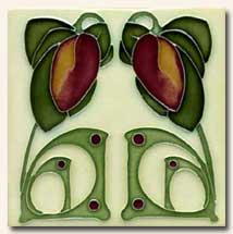 Reproduction Art Nouveau Tile V1C