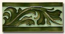Reproduction Art Nouveau Tile V4D