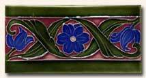 Reproduction Art Nouveau Tile V5C