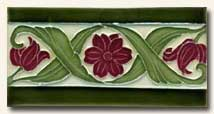 Reproduction Art Nouveau Tile V7A