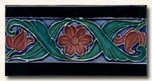 Reproduction Art Nouveau Tile V8