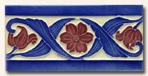Reproduction Art Nouveau Tile V9A