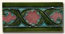 Reproduction Art Nouveau Tile V9B