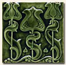 Reproduction Art Nouveau Tile V2