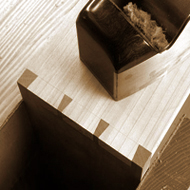 Dovetail jointed drawers